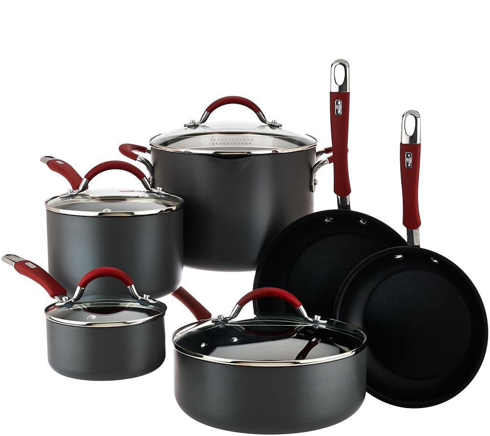 cooksessentials hard anodized 10 piece cookware set page 1