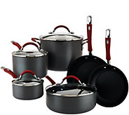 CooksEssentials Hard Anodized 10-Piece Cookware Set - K42346