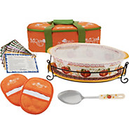 Temp-tations 3 qt. Pumpkin Patch Oval Baker w/ Lid-it in Tote - K44346