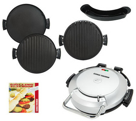 George foreman 360 grill w 2 removable grill plates bake - George foreman replacement grill plates ...