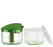 Kuhn Rikon 2.4 Cup Pull & Chop w/Extra Bowl & Storage Lids - K42447