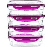 Lock & Lock 4 piece Tritan Storage Set w/ Color Lids - K43347