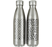 Manna Vogue S/2 17oz. Double Wall Stainless Steel Water Bottles - K46247