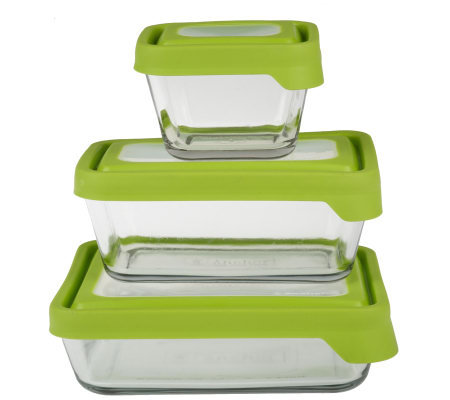 Anchor Hocking True Seal 3pc Glass Food Storage Set