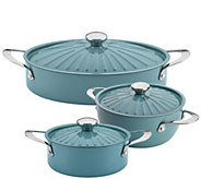 Rachael Ray Cucina Oven-to-Table Nonstick Cookware 6-Piece Se - K304648