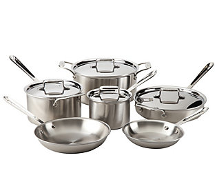 All Clad Brushed Stainless Steel 10 Piece Set