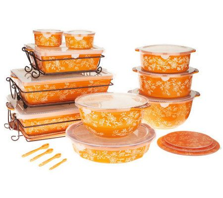 Temp-tations Floral Lace 24-piece Oven-to-Table Set - K39348 — QVC ...