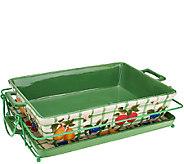 Temp-tations Farmers Market 13x9 Deep Dish with Lid-it - K41648