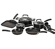 T-Fal Signature 12-Piece Cookware Set - Black - K301449