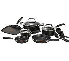 T-Fal Signature 12-Piece Cookware Set - Black