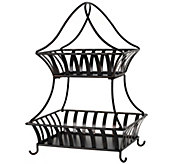 Gourmet Basics by Mikasa Stripe 2-Tier Countertop Basket - K305049