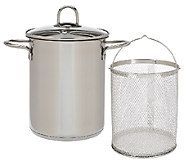 As Is CooksEssentials 4qt. Stainless Steel Multipot with Strainer - K307349