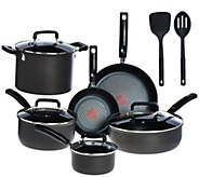 As Is T-Fal 12-pc Hard Anodized Titanium NS Cookware Set - K307649