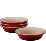 Le Creuset Set of (4) 5 Heritage Collection Petite Pie Dishes - K375149