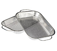 CooksEssentials Set of 2 Stainless Steel BBQ Roasting Pans - K40749