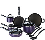 CooksEssentials 13-piece Dishwasher Safe PorcelainEnamel Cookware Set - K43049