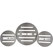 Cooks Essentials Stainless Steel Set of 3 Round Chef Presses - K45549
