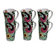 Tabletops Gallery Set of 6 18-Oz Mugs - Symphony - K299050