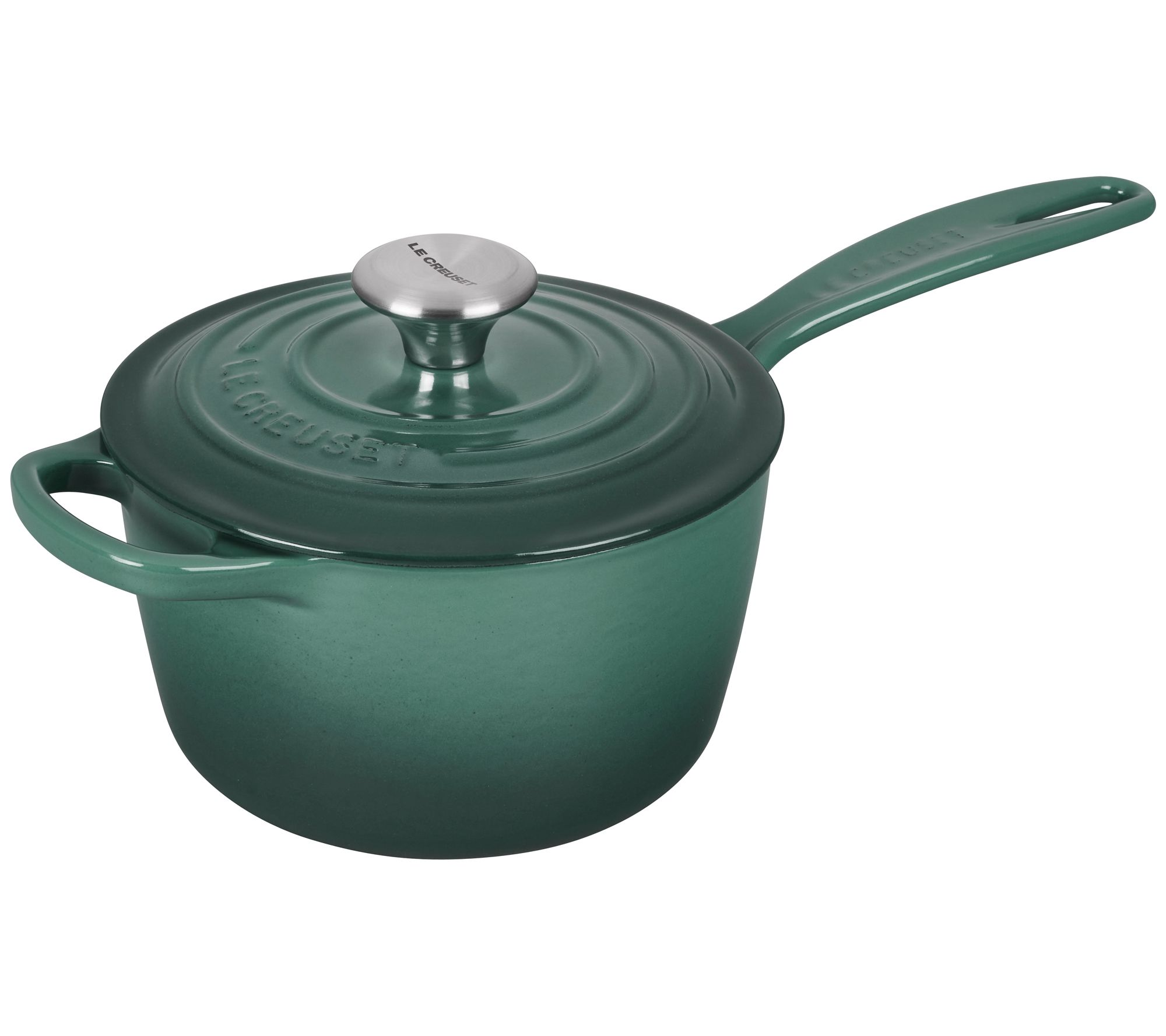 le creuset signature iron handle saucepan page 1. Black Bedroom Furniture Sets. Home Design Ideas