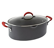 Rachael Ray Hard Anodized Dishwasher Safe 8qt. Covered Oval Pasta Pot - K31150