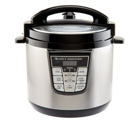 CooksEssentials 6 qt. Nonstick Stainless Steel Digital Pressure Cooker