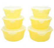Lock & Lock 6-piece Jewel Tone Bowls Storage Set - K39550