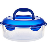 Lock & Lock 1 piece Pie Carrier with Handle & Color Lid - K42650