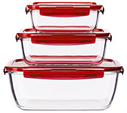 Lock & Lock 3-piece Nesting Glass Set - K44650