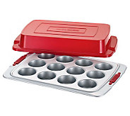Cake Boss Deluxe 12-Cup Covered Muffin Pan - K302451