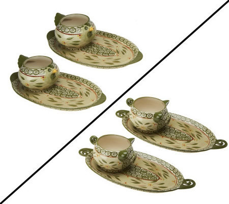 Temp-tations Old World Set of 2 Figural Soup & Sandwich Set