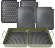 Cook's Essentials 7-Piece BBQ Grill Pan with RemovablePlates