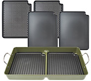 CooksEssentials 7-Piece BBQ Grill Pan with Removable Nonstick Plates - K42351