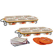 Temp-tations Harvest or Pumpkin Patch Set of 2 Texas Muffin Pan Set - K44551