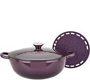 Le Creuset Heritage 4.5qt Cast Iron Chefs Oven & Silicone Trivet - K46251