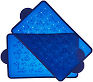 As Is Temp-tations Floral Lace S/2 Silicone Baking Boards - K307452