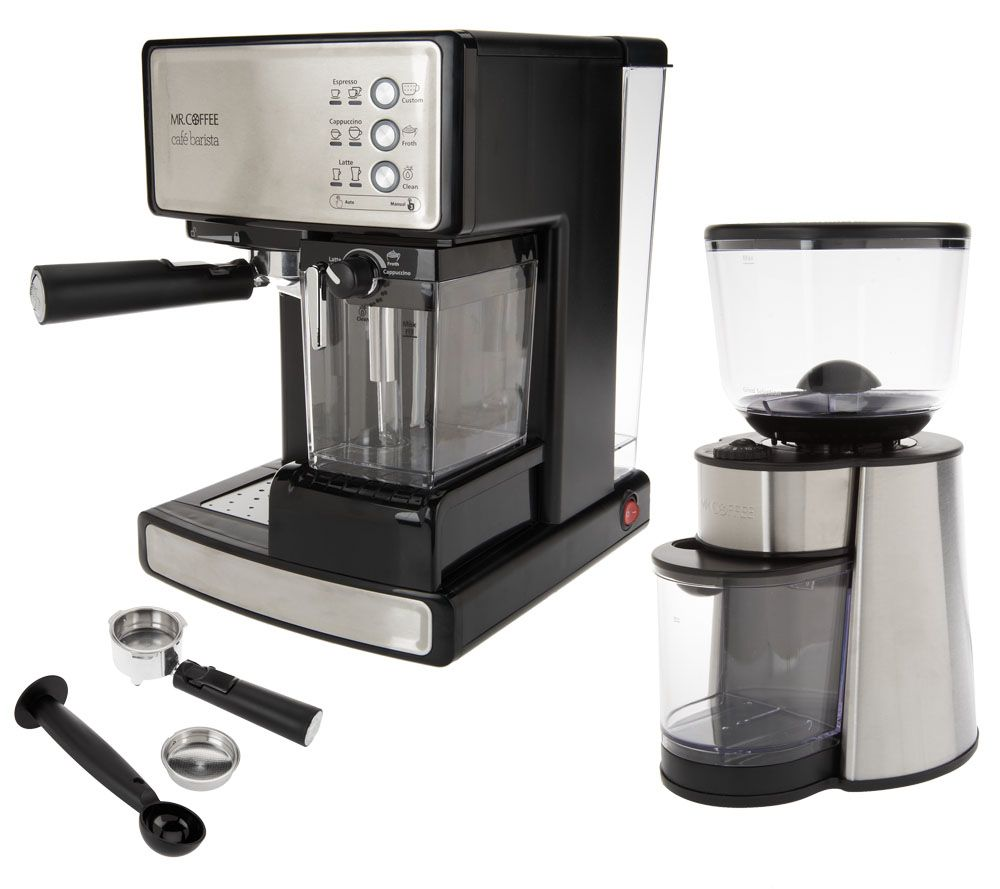 Mr Coffee Latte Maker Clearance : Mr. Coffee Cafe Barista Espresso, Latte & Cappuccino Maker w/Grinder - Page 1 QVC.com