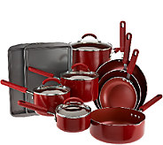 CooksEssentials 14-Piece Porcelain Cookware Set - K43052