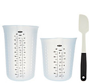 OXO GoodGrips Silicone Measuring Cup & Spatula Set - K44552