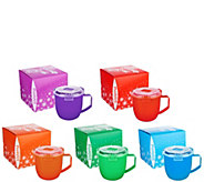 Sistema Set of 5 Large Microwave Soup Mugs in Gift Boxes - K46152