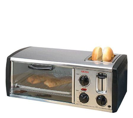Aroma Toaster And Toaster Oven Combo Qvc Com