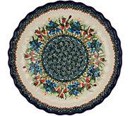 Lidias Polish Pottery Pie Plate - K45753