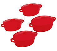 As Is S/4 12 oz. Oval Silicone Pots By MarkCharles Misilli - K280254