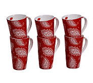 Tabletops Gallery Set of 6 18-Oz Mugs - Bailey - K299054