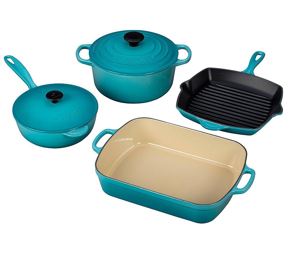 Co color cast cookware - Le Creuset 6 Piece Signature Cast Iron Set K303254