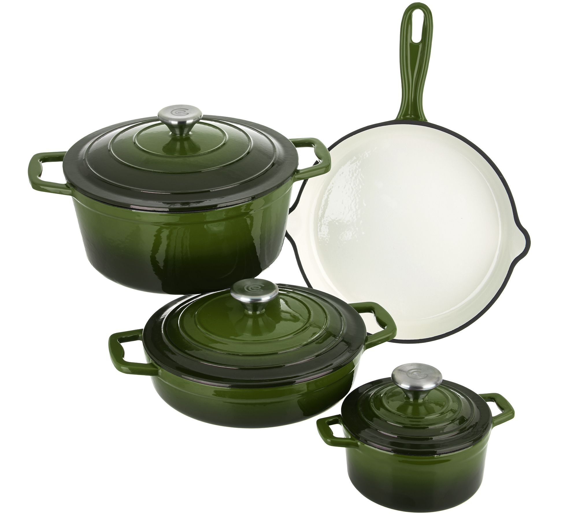 Quot As Is Quot Cook S Essentials 7 Pc Gradient Cast Iron Cookware Set Page 1 Qvc Com