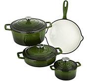 As Is Cooks Essentials 7-pc Gradient Cast Iron Cookware Set - K307754