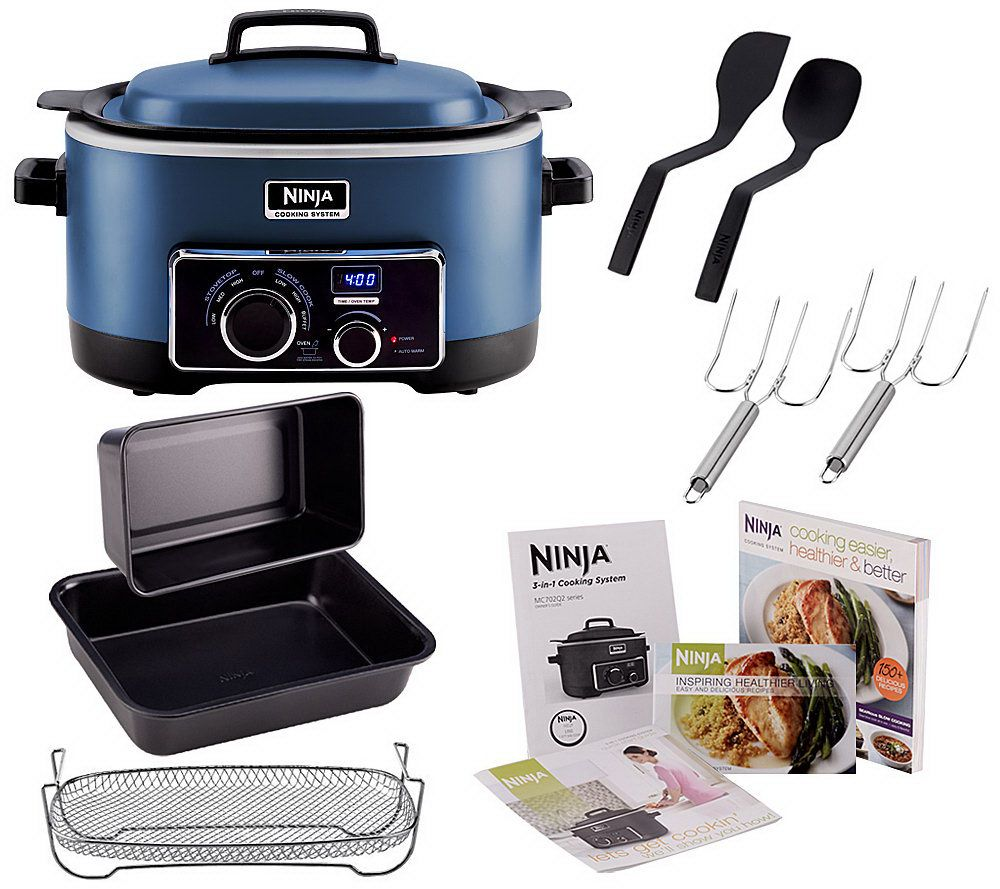 Ninja 3 In 1 6 Qt Nonstick Cooking System With Cookbook And Accessories Page Qvc