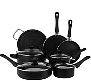 CooksEssentials 11-Piece Aluminum Nonstick Cookware Set - K41654