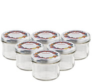 Leifheit Straight 8-oz Large Canning Jars - Setof Six - K305455