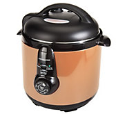 As Is Cooks Essentials 6.5 qt. Round Nonstick Pressure Cooker - K307155